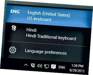 bilah bahasa windows 10