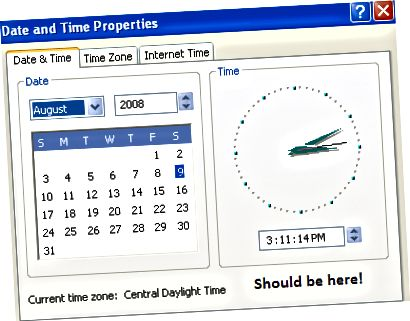 날짜 및 시간 속성