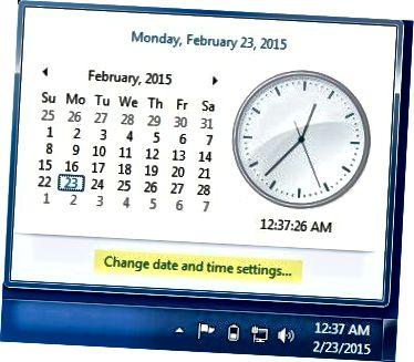 작업 표시 줄 시간 날짜