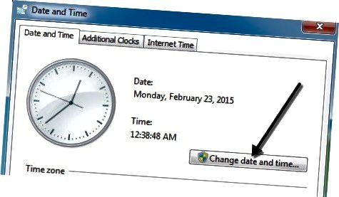 날짜 시간 변경