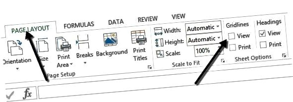 səhifə layout gridlines