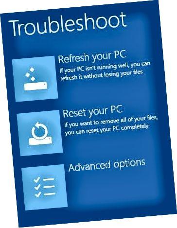 windows 8 avancerede indstillinger