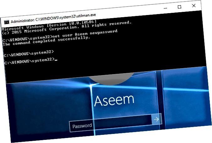Windows 10 nulstiller adgangskode