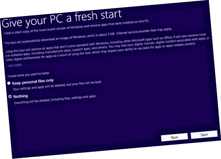PC 신선한 시작