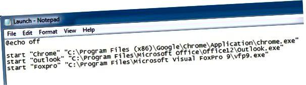 메모장 배치 파일