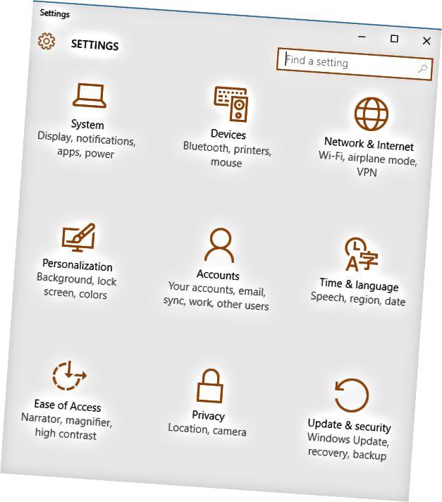 windows 10-indstillinger