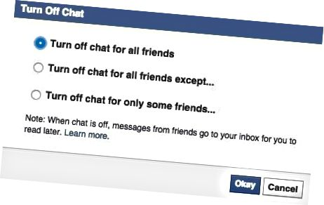 facebook matikan chat