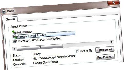 Cloud Print Driver