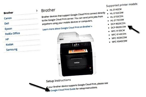 Cloud-ready printers