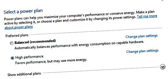 energijos pasirinkimo planai