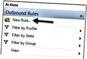 aturan firewall baru