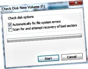 patikrinti diską