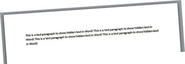 skjult afsnit ord