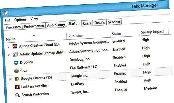 windows 8 opstartelementer