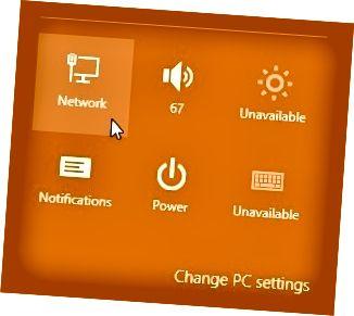 mga setting ng network