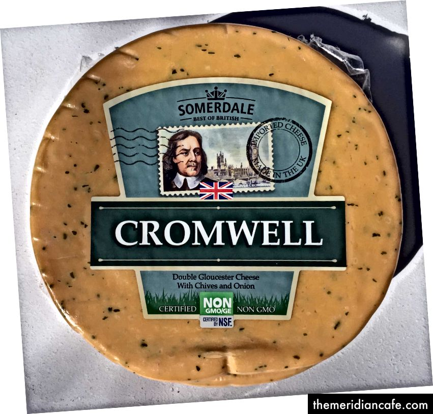 كرومويل دبل جلوستر بالجبن مع الثوم والبصل