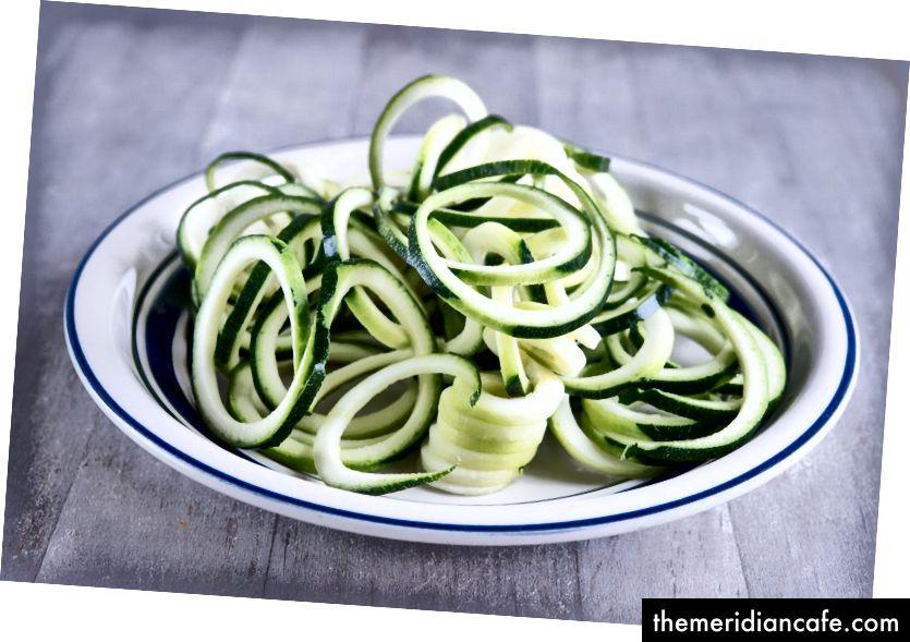 Yum: Wer möchte Zucchini-Nudeln? Foto von Roberto Machado Noa / LightRocket über Getty Images