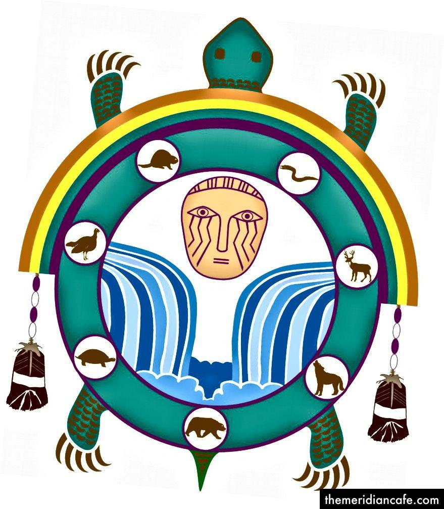 رمز العلم لفرقة تشوبتيكو بولاية ماريلاند للهنود بيسكاتواي.