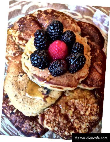 Sean aß besonders gern meine originalen Pfannkuchen zum Frühstück.