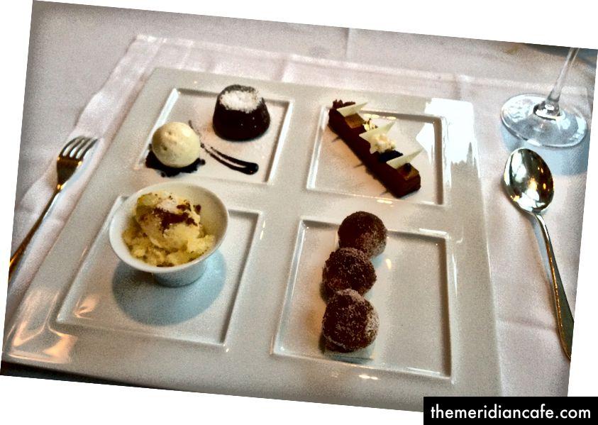 Dessert bei Jean Georges. Ich bin im Laufe der Jahre (geringfügig) besser in der Food-Fotografie geworden.