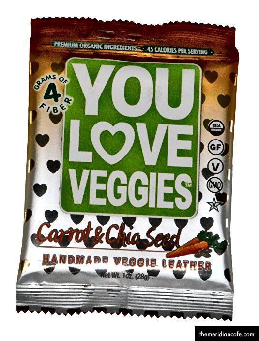 Przekąski z wodorostów Teriyaki (25 kalorii / opakowanie); Wyspa Mango (90 kalorii / opakowanie); Rollup Fruit Carrot (90 kalorii / opakowanie)
