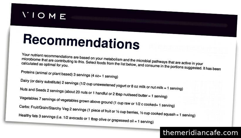 Os conselhos de nutrição da Viome foram sensatos, mesmo sem um teste de US $ 400.