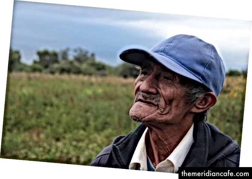 Don Simon, ein Anführer der indigenen Wichi-Gruppe aus Salta, Argentinien.