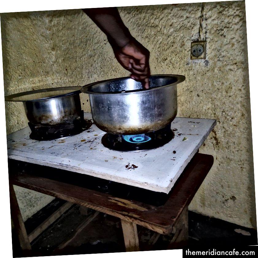 الطهي بالغاز يحافظ على نظافة المنزل. تصوير برفيت مطبازي