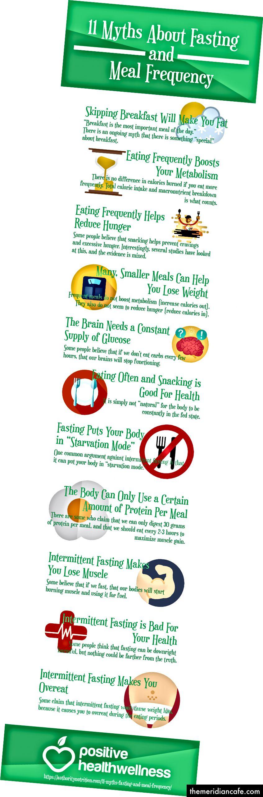 11 Mythen über Fasten und Essenshäufigkeit - Infografik, Von Karen Reed