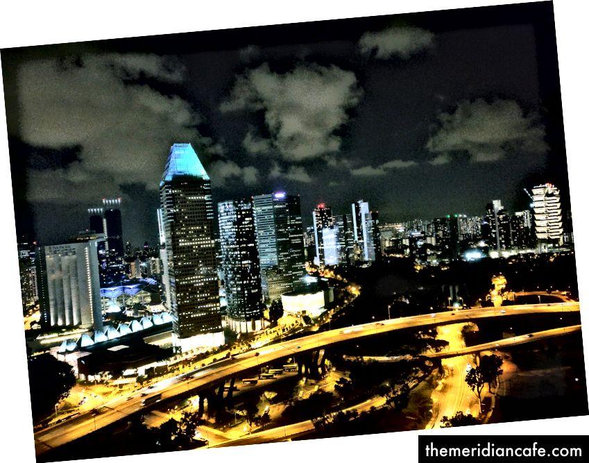 Retirado do Singapore Flyer. Imagem: Autor