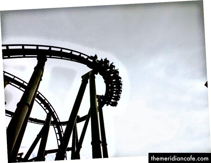 Montanha russa no Universal Studios. Foto: Autor