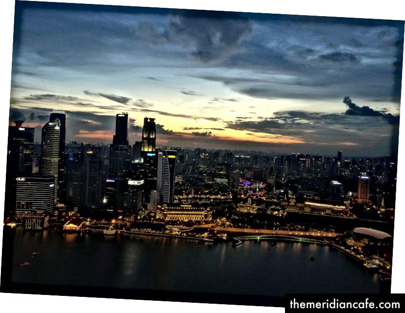 A cidade do Observatório Skypark. Foto: Autor