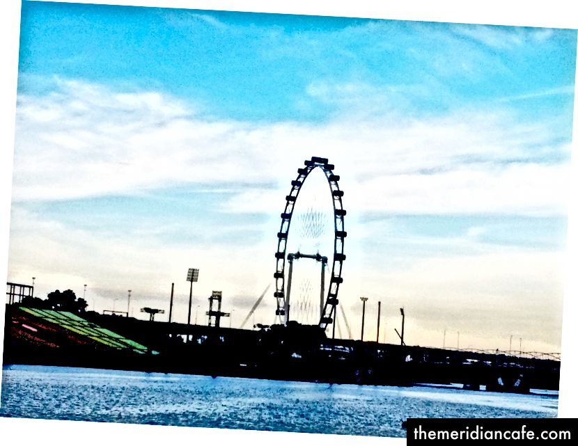 O panfleto de Singapura. Foto: Autor