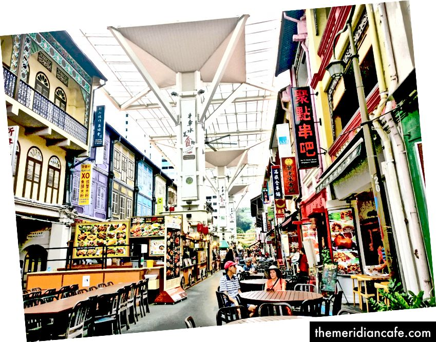 Rua de comida de Chinatown. Foto: Autor