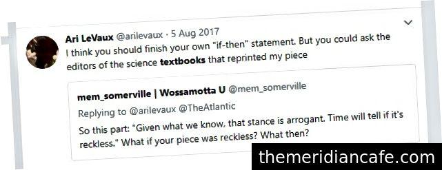 Ari LeVaux afirma que seu artigo foi reimpresso em livros de ciências.