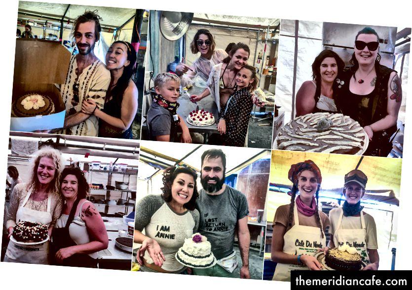 Queimadores Assando seus próprios bolos de aniversário e casamento. Amanda Lucia fotografou atrativamente nas fotos superior direita e inferior esquerda.