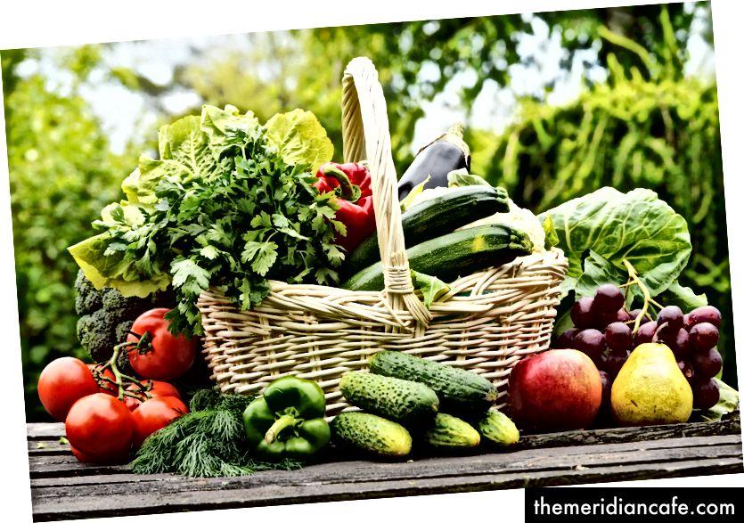 Alimentos orgânicos e sustentáveis. Foto via Flickr Creative Commons.