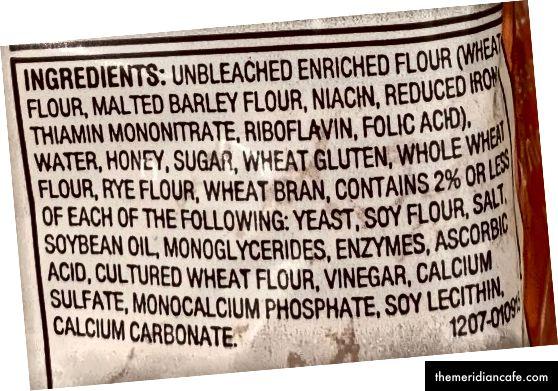 Prirodni vlastiti sastojci pšeničnog hljeba od meda