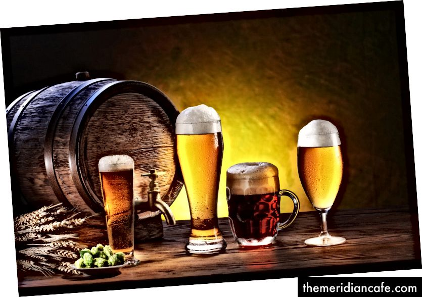 Você bebe mais rápido com copos mais altos.