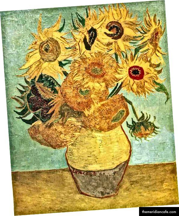 Van Gogh, Doze girassóis, Museu de arte da Filadélfia, Public Domain