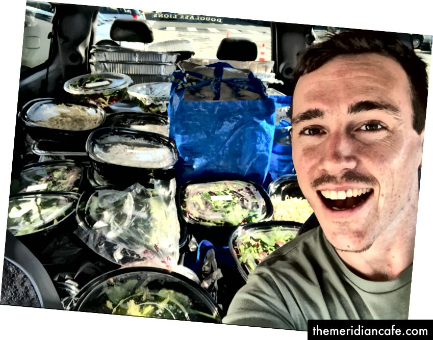 Justin, jedan od spasitelja hrane u Replatovom zalivu.