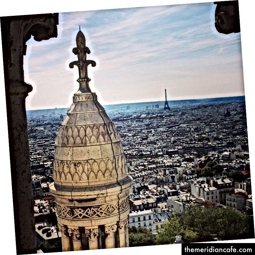 Widok ze szczytu bazyliki Sacré-Cœur