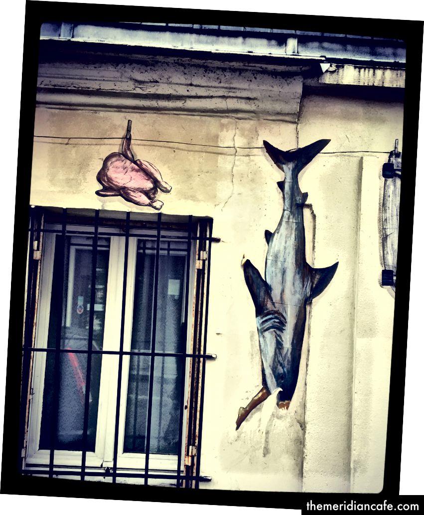 Sztuka uliczna w Montmartre. To jest wszędzie!