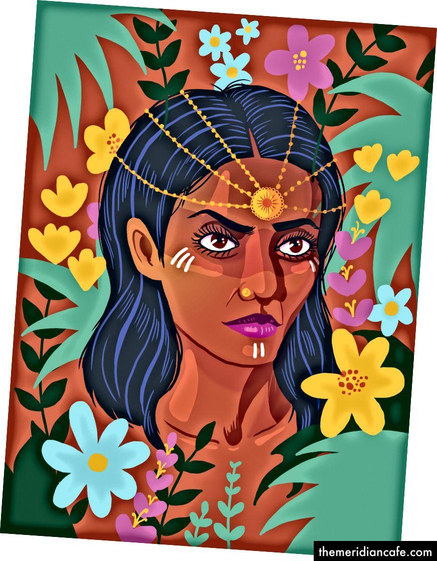 """""""Flower Power"""" od veľkého Shehzila Malika. Ďakujeme Shehzil za to, že sa s nami podelili o svoje umenie, a povzbudzujeme vás, aby ste ju navštívili online."""