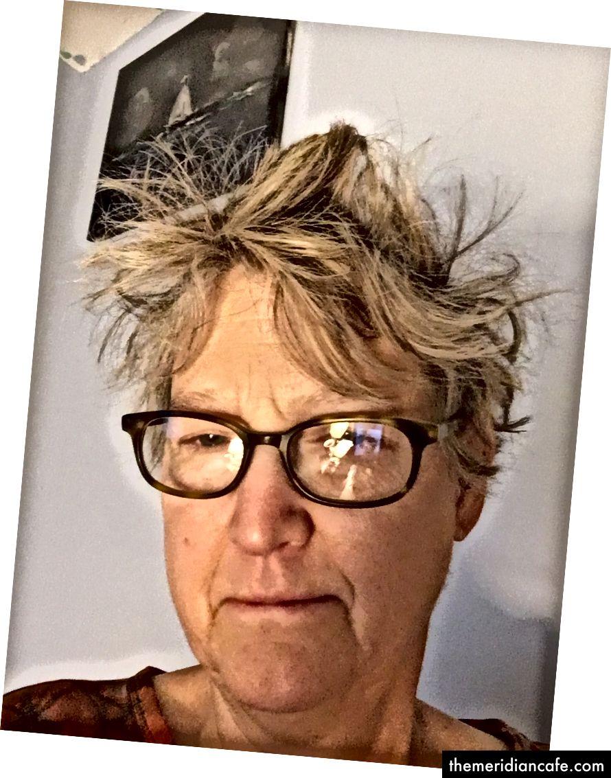 Moje Einstein vlasy první věc ráno po mytí to noc předtím