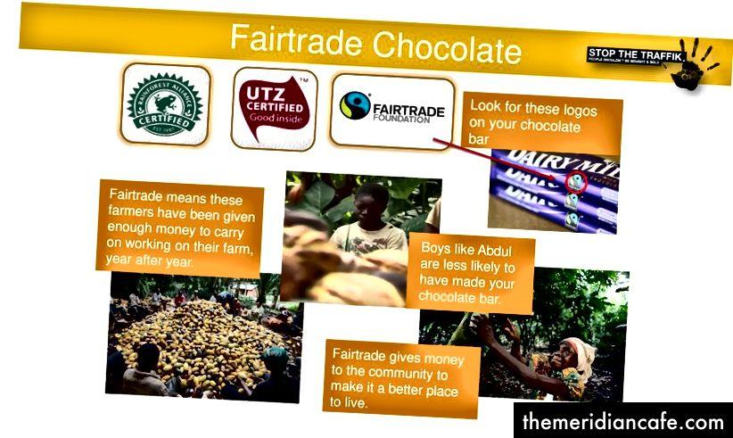 Recherchez les logos «certifiés» lors de l'achat de chocolat (Photo: Silvester Rich)