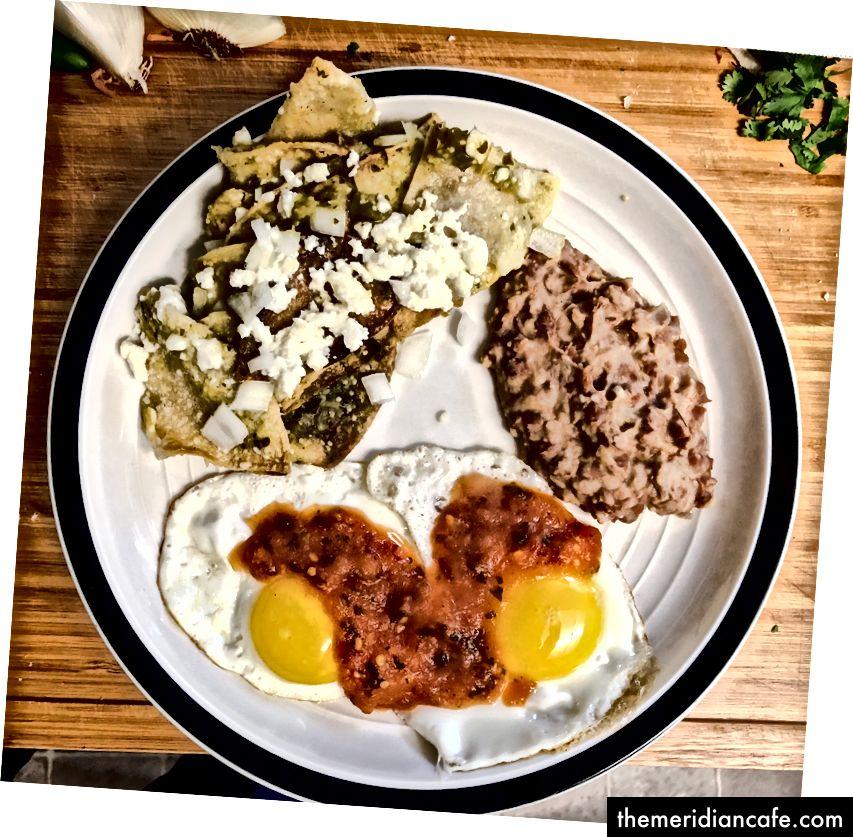 Попытка типичного завтрака моего отца.