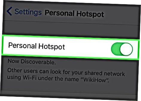 Wi-Fi ulanish nuqtasini yaratish