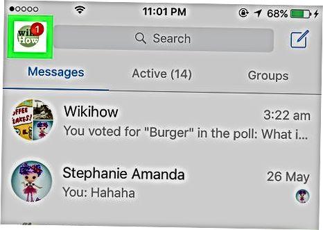 Messenger ilovasi yordamida profilingiz URL manzilini o'zgartirish