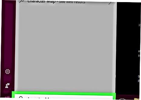 Windows-da belgilar xaritasidan foydalanish